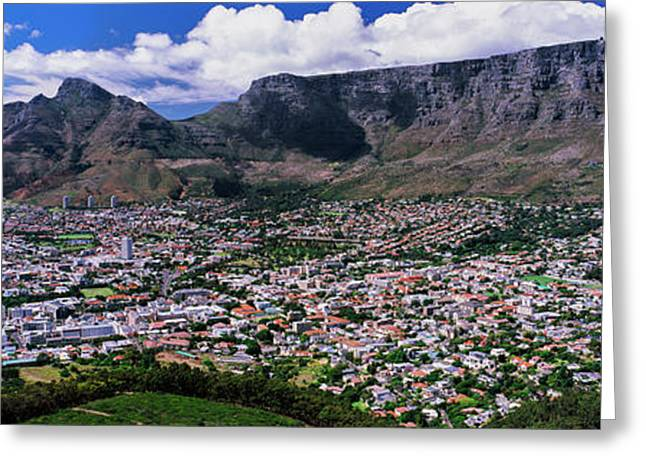 Aerial View Of A City From Signal Hill Greeting Card