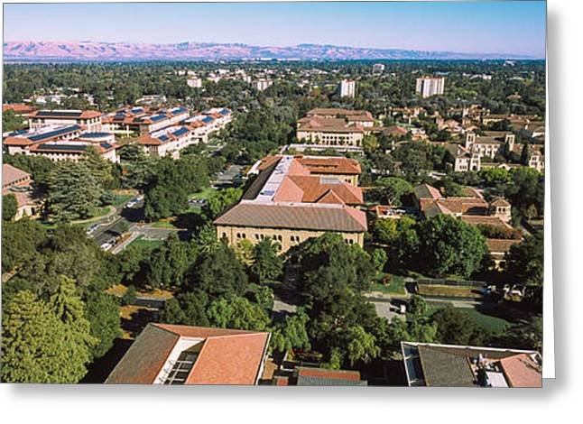 Aerial View Of Stanford University Greeting Card