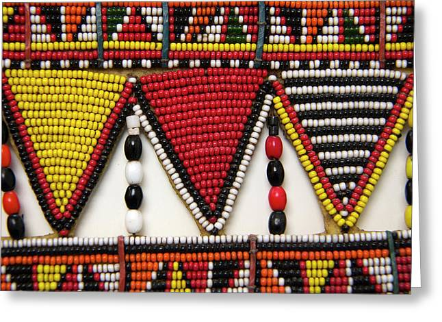 Africa, Kenya Maasai Tribal Beadwork Greeting Card