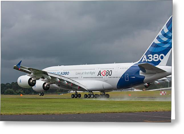 Airbus A380 Greeting Card
