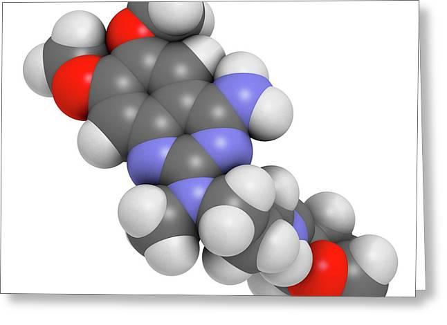 Alfuzosin Bph Drug Molecule Greeting Card by Molekuul
