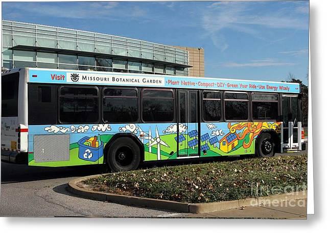 Ameren Missouri And Missouri Botanical Garden Metro Bus  Greeting Card