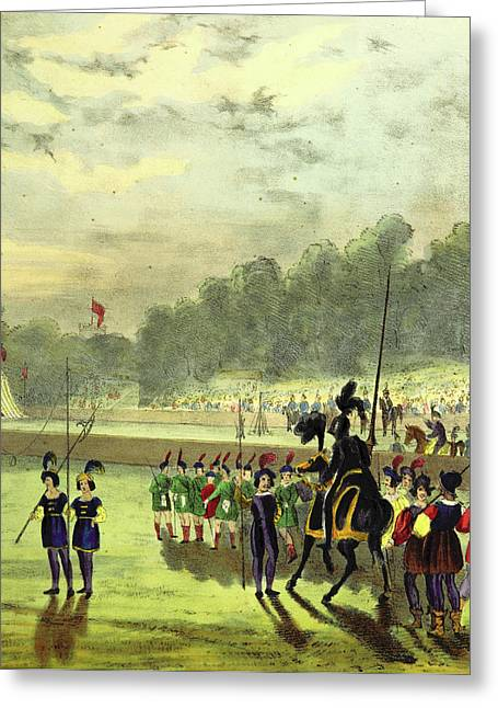 An Account Of The Tournament At Eglinton Greeting Card by Litz Collection