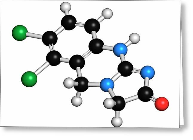 Anagrelide Thrombocytosis Drug Molecule Greeting Card