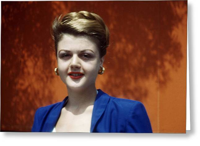 Angela Lansbury Greeting Card by Silver Screen