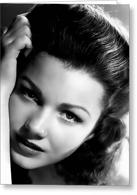 Anne Baxter Greeting Card by Silver Screen