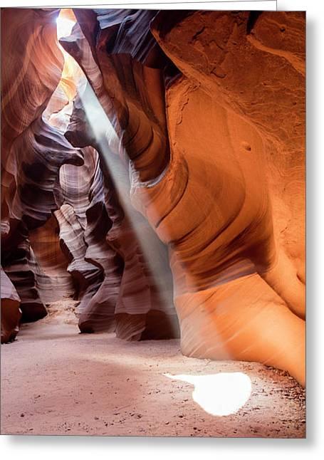 Antelope Canyon Greeting Card by Michael Szoenyi