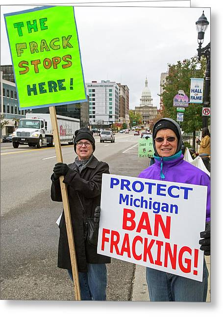 Anti-fracking Protest Greeting Card