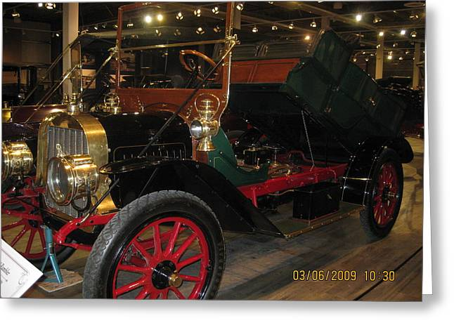 Antique Car Greeting Card by Dick Willis