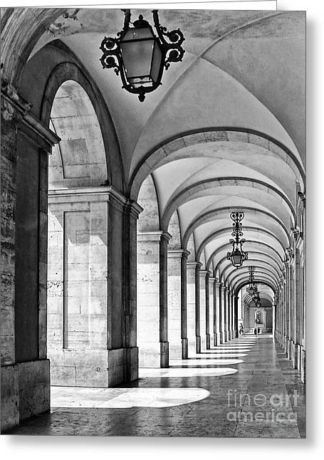 Arcades Of Lisbon Greeting Card by Jose Elias - Sofia Pereira