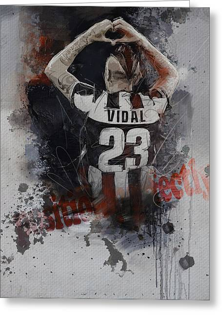 Arturo Vidal  Greeting Card by Corporate Art Task Force