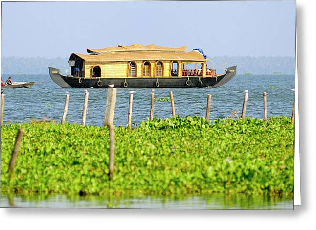 Asia, India, Kerala (backwaters Greeting Card by Steve Roxbury