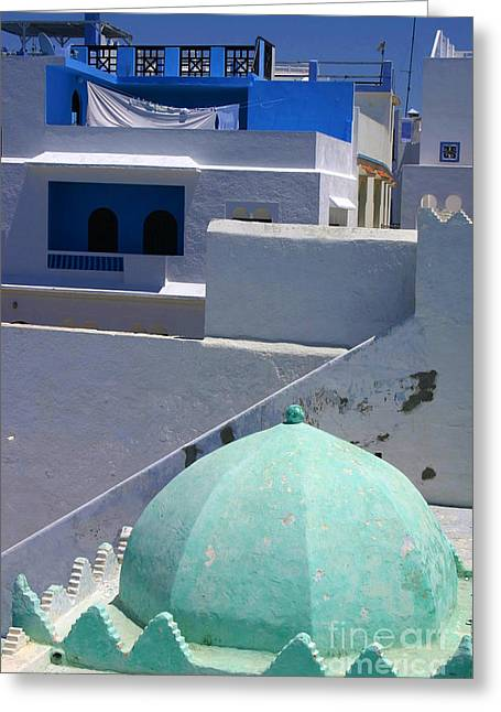 Asilah Meaning Authentic In Arabic Fortified Town On Northwest Tip Of Atlantic Coast Of Morocco Greeting Card by Ralph A  Ledergerber-Photography