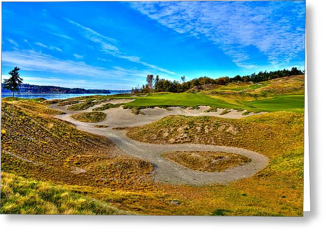 #3 At Chambers Bay Golf Course - Location Of The 2015 U.s. Open Championship Greeting Card by David Patterson
