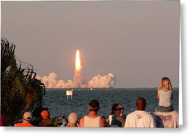 Atlantis Shuttle Launch Greeting Card