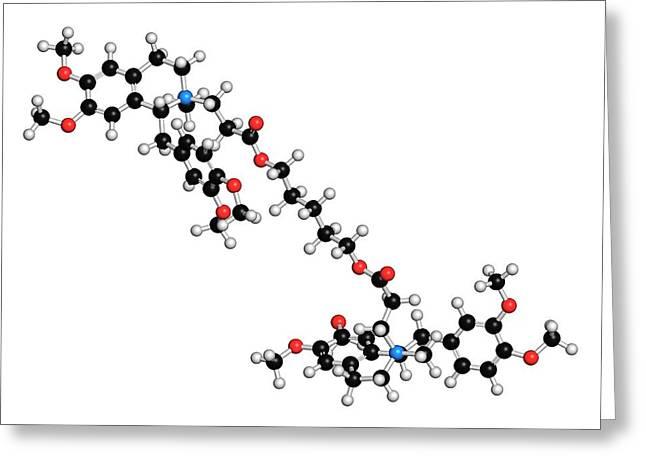 Atracurium Skeletal Muscle Relaxant Drug Greeting Card by Molekuul