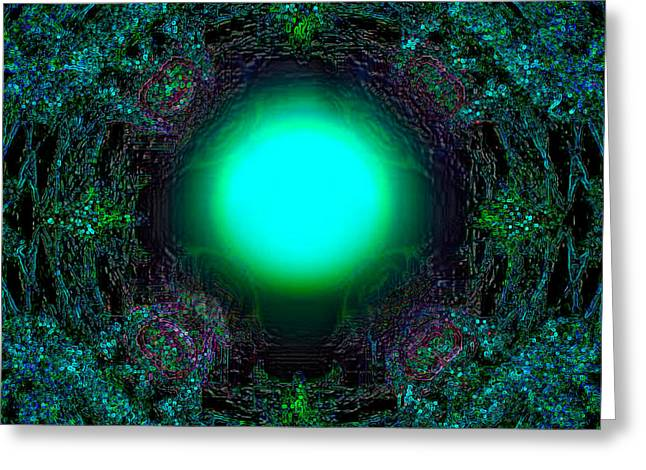 Greeting Card featuring the digital art Attraction Of The Light by Hanza Turgul