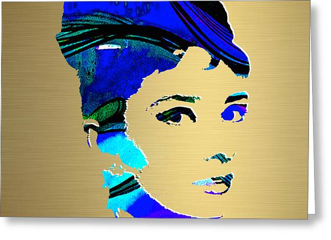 Audrey Hepburn Gold Series Greeting Card
