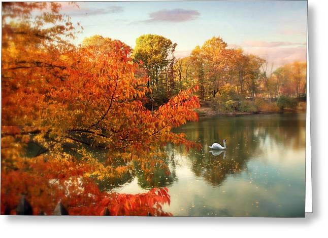 Autumn Splendor Greeting Card by Jessica Jenney