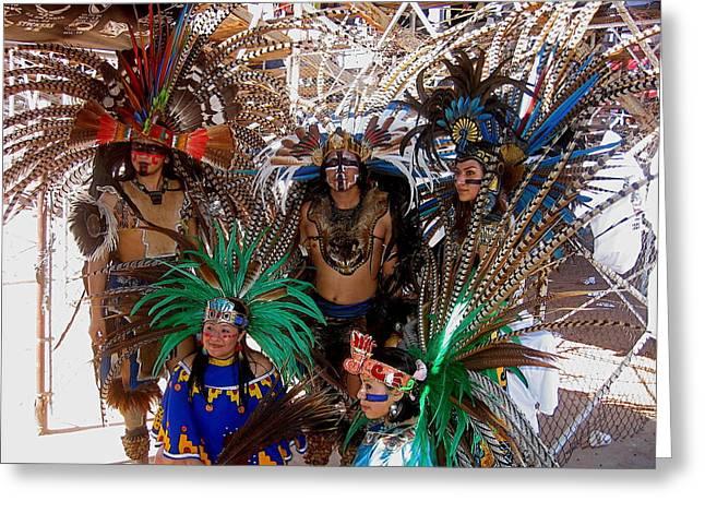 Aztec Performers Arena O'odham Tash Casa Grande Arizona 2006  Greeting Card