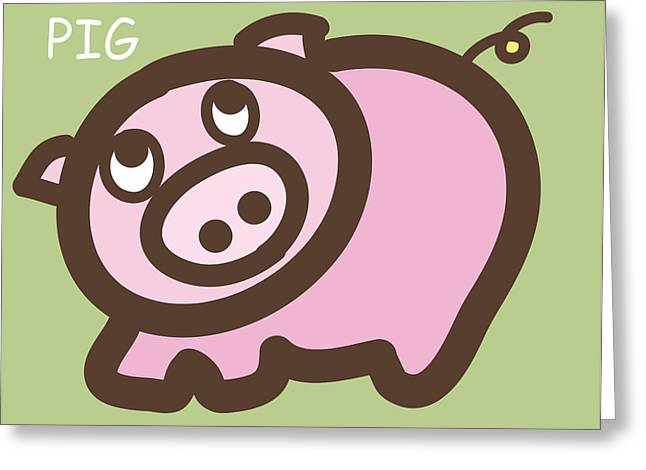 Baby Pig Art For The Nursery Greeting Card by Nursery Art