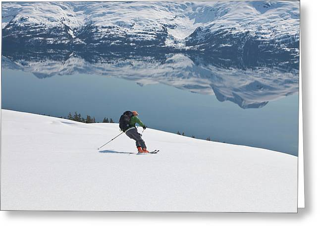 Backcountry Skiing In Prince William Greeting Card