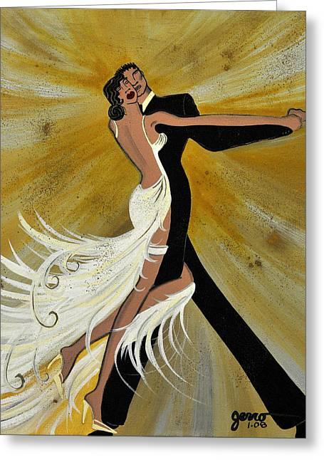 Ballroom Dance Greeting Card by Helen Gerro