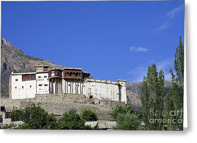 Baltit Fort At Karimabad In The Hunza Valley Pakistan Greeting Card by Robert Preston