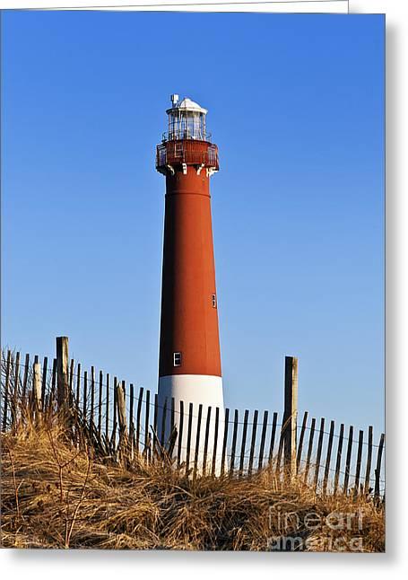 Barnegat Lighthouse Greeting Card by John Greim