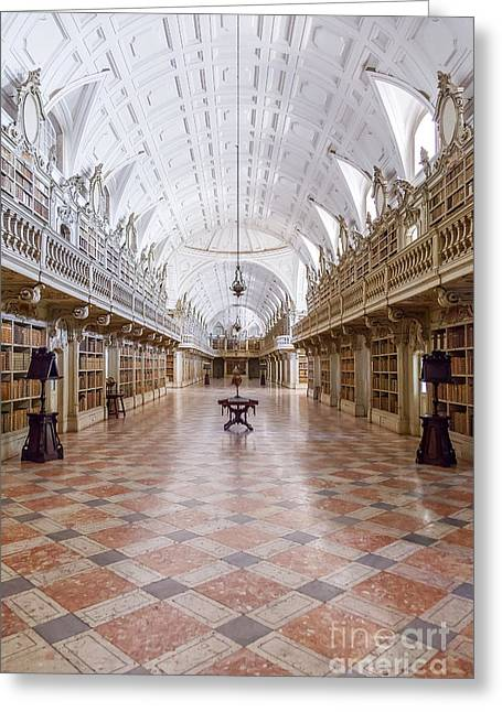Baroque Library  Greeting Card by Jose Elias - Sofia Pereira