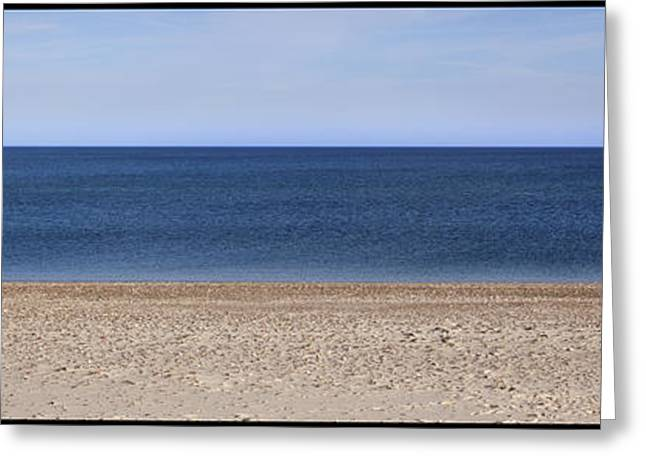 Color Bars Beach Scene Greeting Card