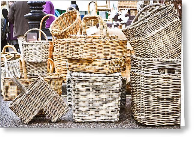 Baskets Greeting Card by Tom Gowanlock