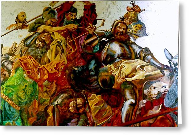 Battle Of Grunwald Greeting Card by Henryk Gorecki