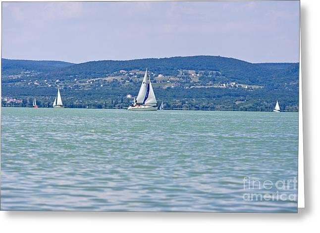 Beautiful Lake Balaton  Greeting Card
