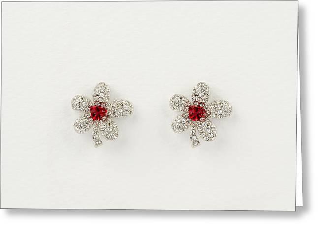 Beauty Earrings Greeting Card by Nikita Buida