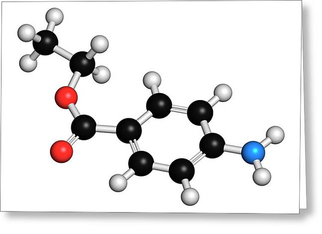 Benzocaine Local Anesthetic Drug Molecule Greeting Card