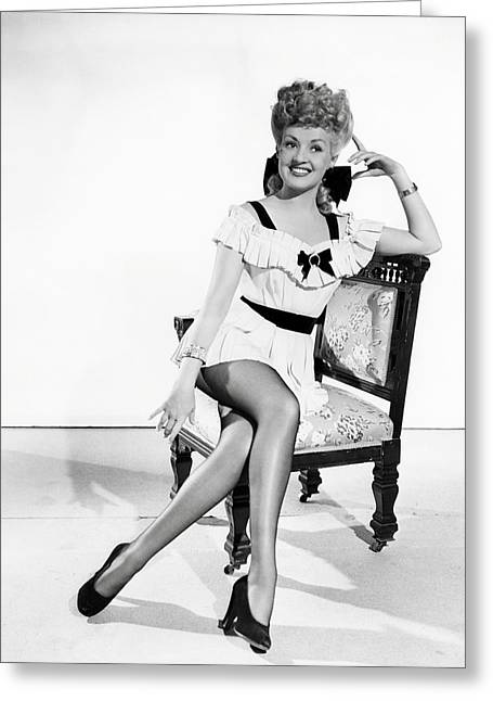 Betty Grable Greeting Card by Silver Screen