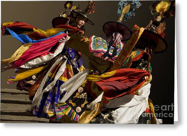 Greeting Card featuring the digital art Bhutanese Festival by Angelika Drake