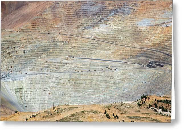Bingham Canyon Copper Mine Greeting Card