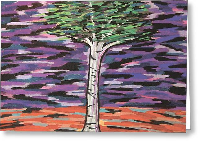 Birch At Dawn Greeting Card