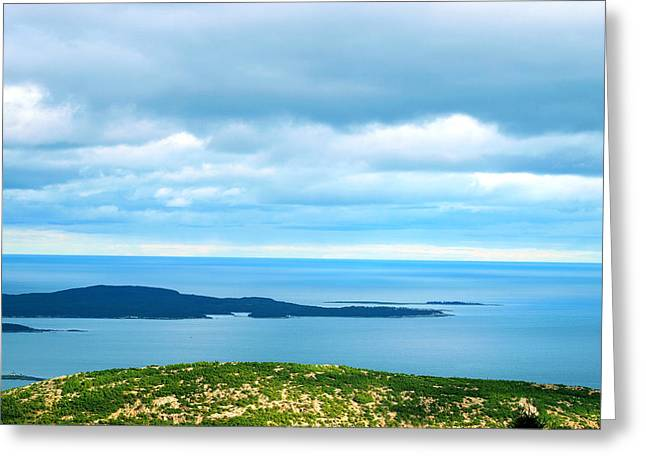 Bird's-eye View From Cadillac Mountain Acadia National Park Greeting Card