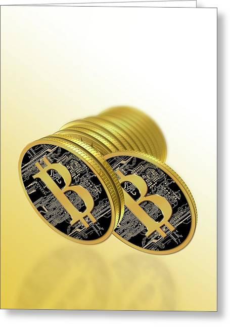 Bitcoins Greeting Card