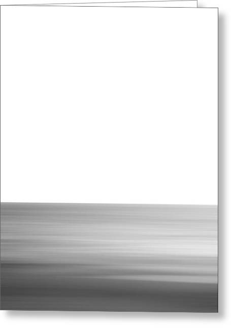 Black And White Abstract Seascape No. 02 Greeting Card