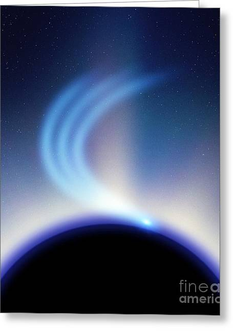 Black Hole And Infalling Matter Greeting Card