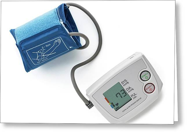 Blood Pressure Measurement Greeting Card by Science Photo Library