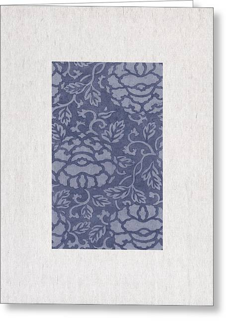 Blue Flowers Greeting Card by Aged Pixel