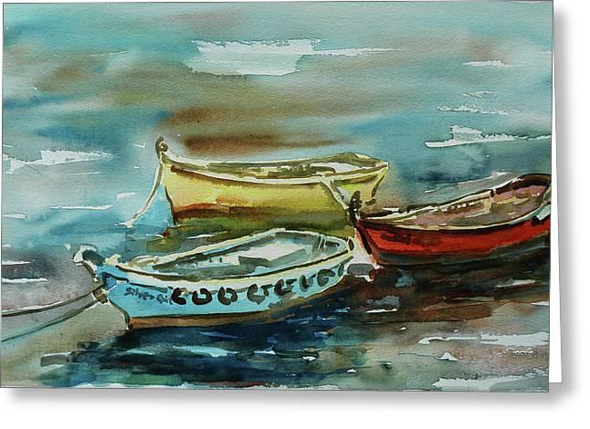 3 Boats II Greeting Card by Xueling Zou
