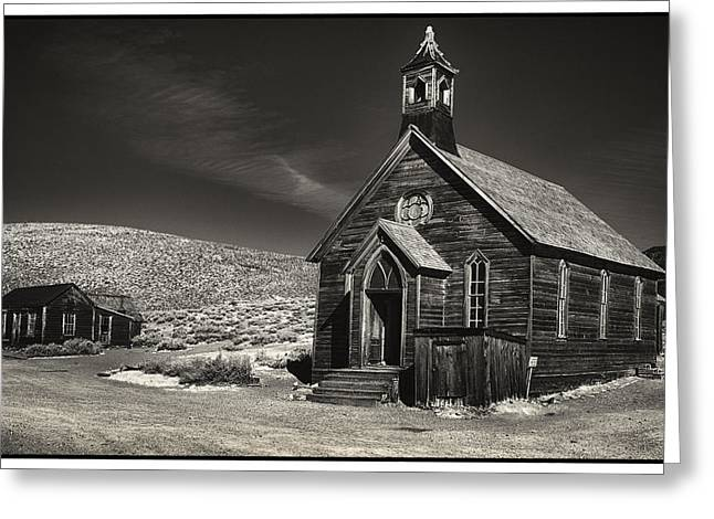 Bodie Church Greeting Card by Robert Fawcett