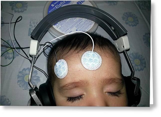 Brainstem Evoked Response Audiometry Greeting Card by Photostock-israel
