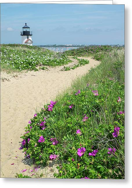 Brant Lighthouse, Nantucket Harbor Greeting Card